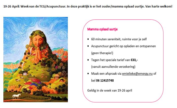 week vd acupunctuur mamma oplaaduurtje